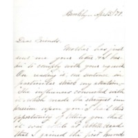 Letter to Ms. Philena McKeen from Helen M. (Brown) Copeland, April 15, 1879