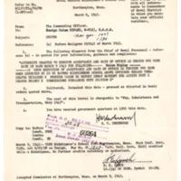 Copy of orders, Midshipmen's School, Helen Ripley, Abbot Academy, class of 1930