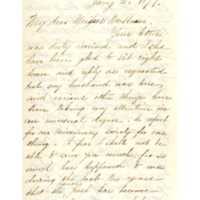 Letter to Phebe McKeen from former Abbot Academy student Mary Hunter Williams, January 2, 1879
