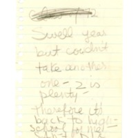 Sherman House Letter, Priscilla Woods, Abbot Academy
