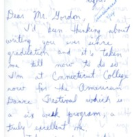 Letter to Don Gordon from former Abbot Academy student Laura, July 24