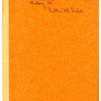 History IV notebook of Sarah (Sallie) M. Field, Abbot Academy class of 1904