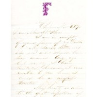 Letter to Ms. Philena McKeen from Rufus S. Frost, November 1, 1870