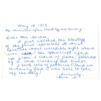 Letter to Don Gordon from former Abbot Academy student Sara G, May 14, 1973