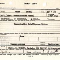 Officer qualification report, Helen Ripley, Abbot Academy, class of 1930