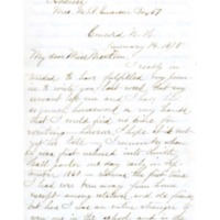 Letter to Phebe McKeen from former Abbot Academy student Alice B. Emerson, January 14, 1878