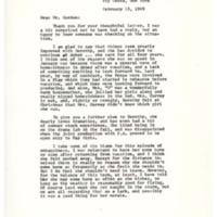 Letter to Don Gordon from parent Lois S. Streett, Abbot Academy, February 15, 1969