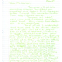 Letter to Don Gordon from former Abbot Academy student Alison Galusha, May 29