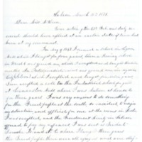 Letter to Ms. Philena McKeen from Mary R. Kimball, March 15, 1879