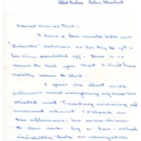 Letter home, Patty A. Bowne, Abbot Academy, class of 1946